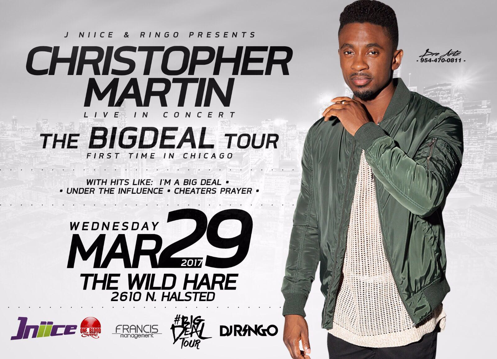 Christopher Martin Big Deal Tour